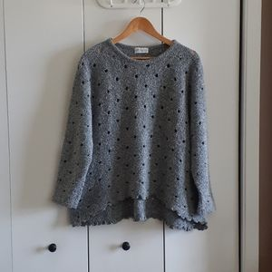 Betsys grey destroyed distressed sweater holes